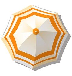 Umbrella from top view vector