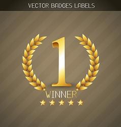 winner label vector image vector image