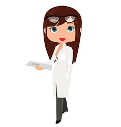 Young doctor pediatrician vector