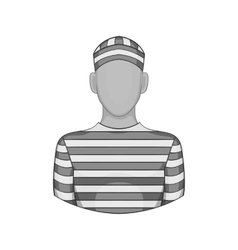 Prisoner icon black monochrome style vector