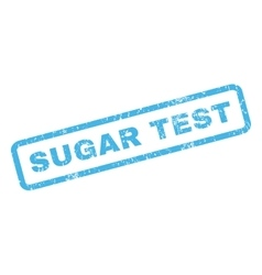 Sugar test rubber stamp vector