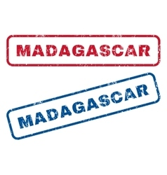 Madagascar rubber stamps vector