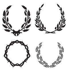 wreath pack3 vector image