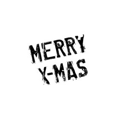 Merry x-mas rubber stamp vector