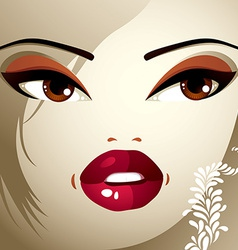 Face makeup lips eyes and eyebrows of an vector