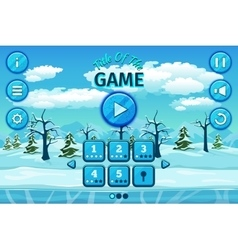 Cartoon winter or arctic landscape with ice snow vector