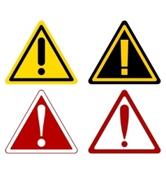 Warning attention signs vector