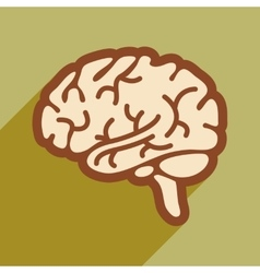 Icon of human brain in flat style vector