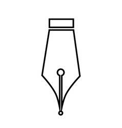 Pen line icon vector