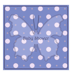 Baby-shower-butterfly-blue-polka-dot-2 vector