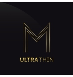 Ultrathin m letter vector