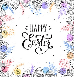 Happy easter frame vector image