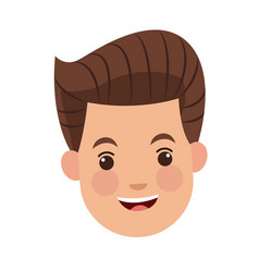 businessman character face male happy image vector image