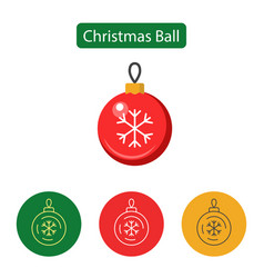 christmas ball isolated minimal icon vector image