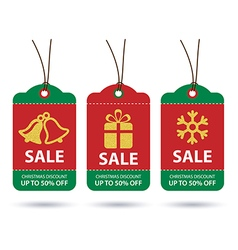 christmas sale tags flat design vector image vector image