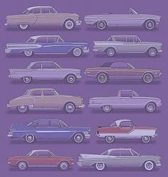 classic cars vector image