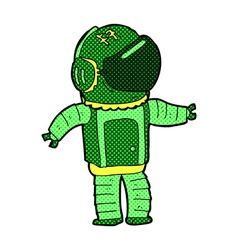 comic cartoon astronaut vector image