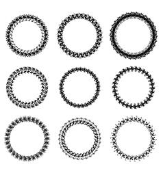 Decorative Circle Frames vector image vector image