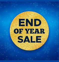 End of year sale promotion banner vector