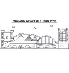 England newcastle upon tyne architecture line vector