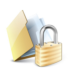 File lock vector image vector image
