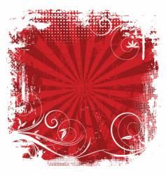 floral grunge background vector image