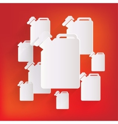 Fuel jerrycan icon vector image