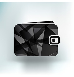 icon wallet market loan pay economy business vector image