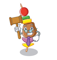 Judge barbecue character cartoon style vector