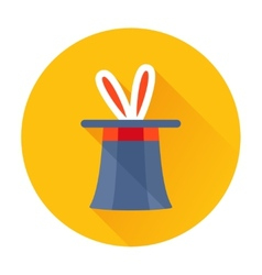 magician hat with rabbit ears icon vector image