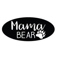 Mama bear vector