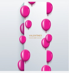 Modern pink balloons background for happy vector