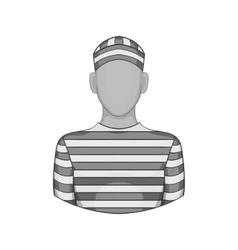 Prisoner icon black monochrome style vector image