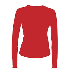 Red sport shirt vector image vector image