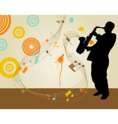 saxophonist vector image vector image