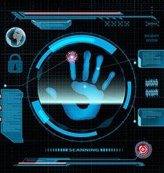 Scanning human hand vector image vector image