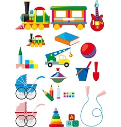 Set of children toys vector image vector image