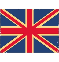 Shabby British flag vector image vector image