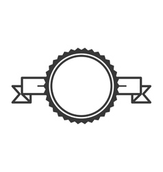 silhouette label with circular border vector image
