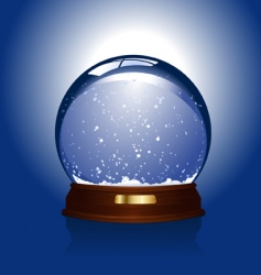 snow globe over blue vector image vector image