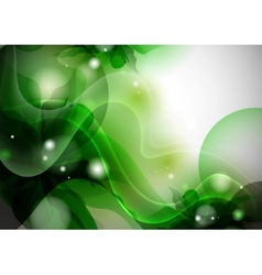 Stylized Green Flower Background vector image