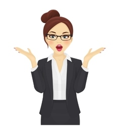 Surprised business woman vector image vector image