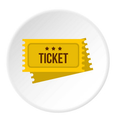 Tickets for the circus icon circle vector
