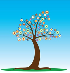 tree in blossom vector image vector image