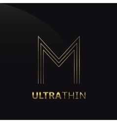 Ultrathin m letter vector