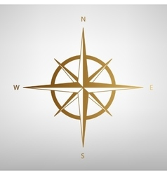 Wind rose sign flat style icon vector