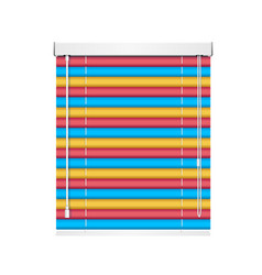 Realistic color window jalousie roller shutters vector