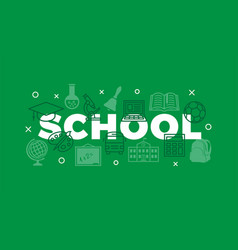 School concept with icons and signs vector