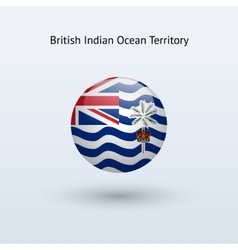 British indian ocean territory round flag vector
