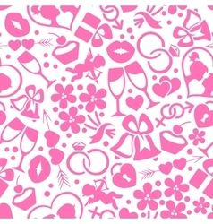 Bright romantic seamless pattern vector